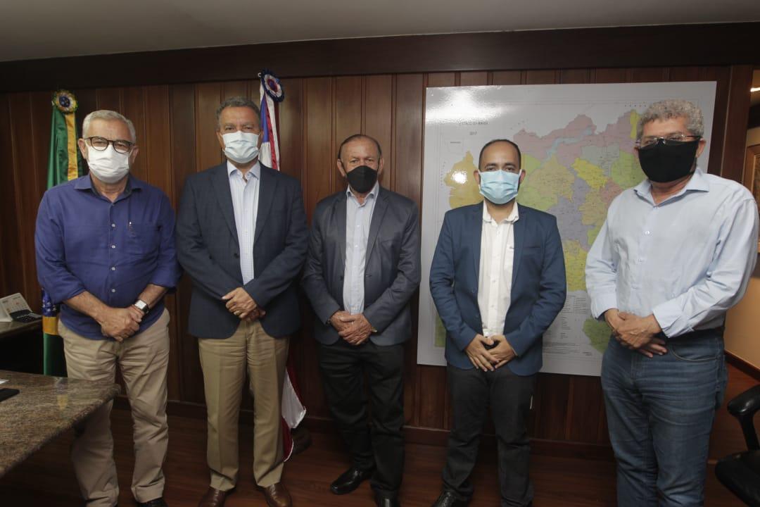 Foto: Encontro no gabinete do governador Rui Costa